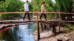 Presiden Joko Widodo saat blusukan asap ke Riau (Dok. Greenpeace)