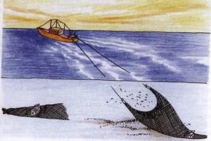 Ilustrasi alat tangkap pukat (kapi.kkp.go.id)