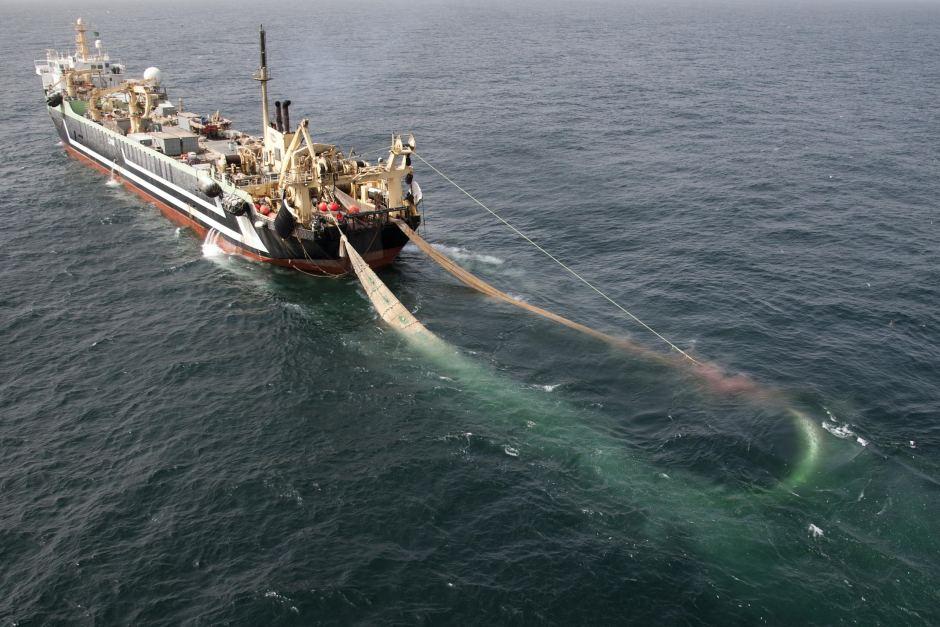 Kapal ikan dengan alat tangkap pukat (pusluh.kkp.go.id)