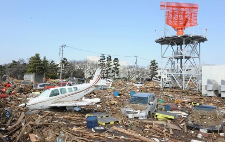 Kerusakan akibat gempa dan tsunami di Sendai, Jepang (dok. sekolahjepang.com)