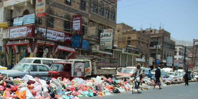 Suasana kota Sana'a di Yaman. Perang mengakibatkan 25.000 orang Yaman menderita kelaparan tiap hari (dok. oxfam)