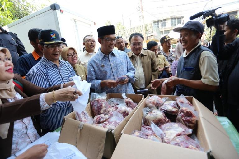 Operasi pasar daging sapi di kota Bandung (dok. portal.bandung.go.id)