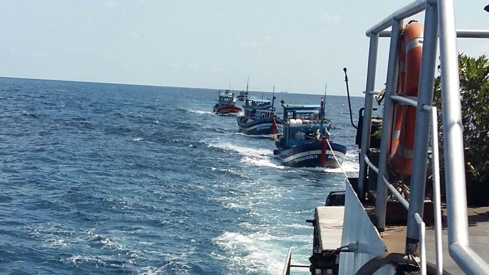 Kapal-kapal ikan Vietnam yang ditangkap aparat KKP (dok. kkp.go.id)