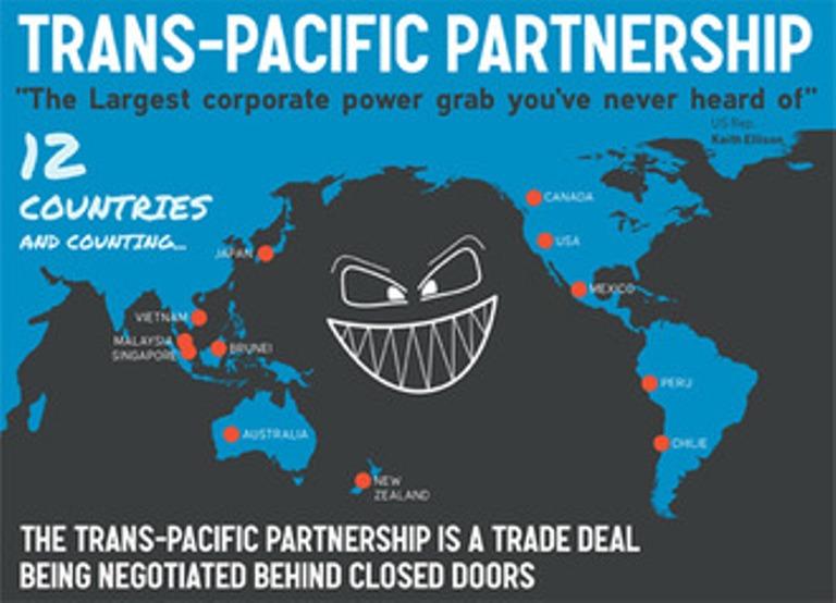 Ilustrasi ancaman liberalisasi dibalik TPP. Indonesia diperkirakan hanya akan menjadi pasar (dok. campaign.350.org)