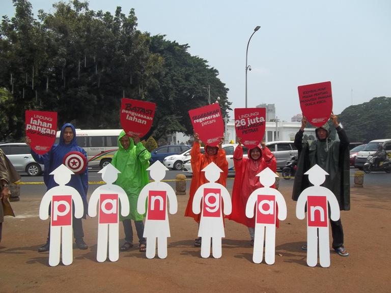 Para aktivis menyerukan pemerintah benar-benar mewujudkan kedaulatan pangan (dok. Aliansi untuk Desa Sejahtera)