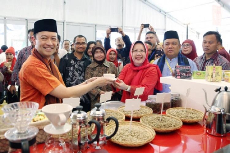 Menteri Perdagangan Thomas Lembong di sebuah acara pameran produk Indonesia (dok. kemendag.go.id)