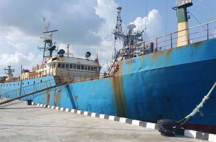 Kapal FV Viking, buron di 13 negara yang ditangkap di Indonesia (dok. kkp.go.id)