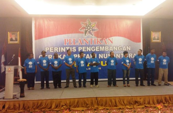Pelantikan perintis pengembangan Gerakan Petani Nusantara (GPN) Papua (villagerspost.com/said abdullah)