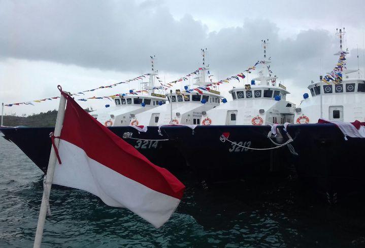 Jajaran kapal patroli milik Kementerian Kelautan dan Perikanan (dok. kkp.go.id)