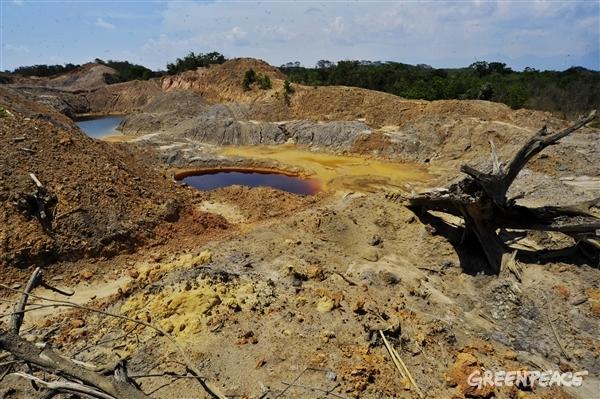 Kehancuran bentang alam yang terjadi akibat pertambangan batubara (dok. greenpeace)