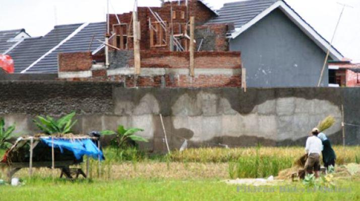 Areal persawahan tergusur perumahan (dok. bkpd.jabarprov.go.id)