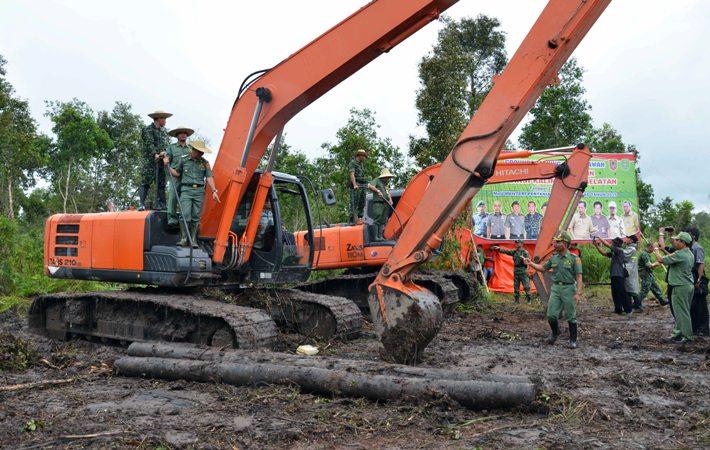 Program cetak sawah di Kalimantan Selatan (dok. kalselprov.go.id)