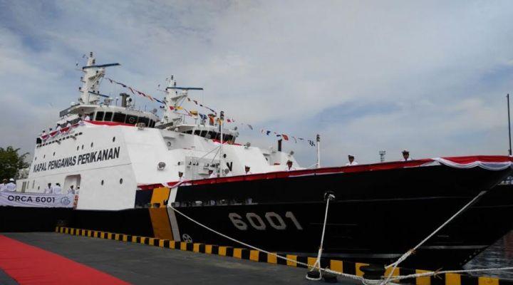 Kapal Pengawas Orca 01 saat diresmikan pengoperasiannya (dok. kkp)