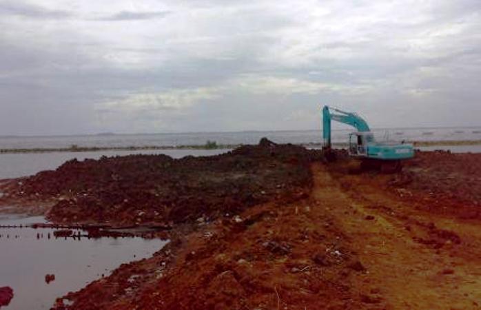 Proyek reklamasi pantai utara Jakarta (dok. kiara)