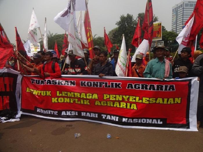 Aktivis dan petani menuntut penuntasan konflik agraria (dok. jatam.org)
