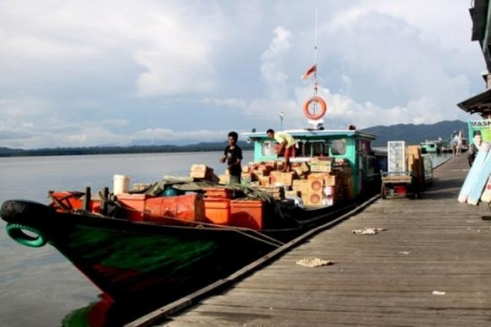 Fasilitas pelabuhan angkutan barang di Nunukan (dok. nunukankab.go.id)