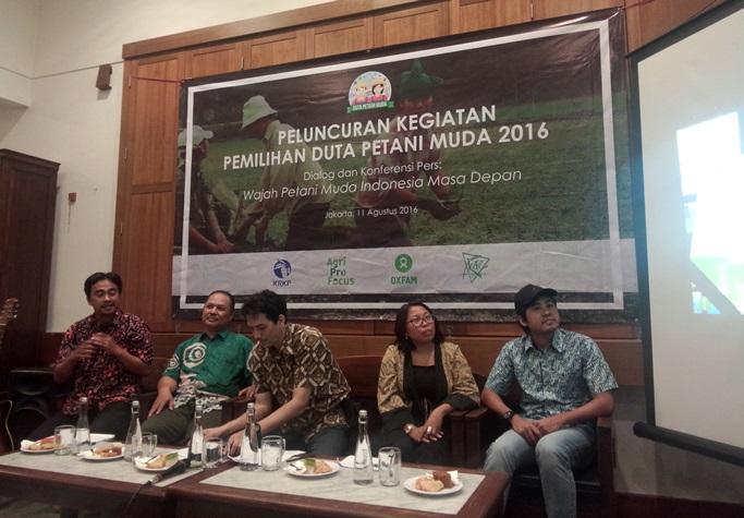 Acara peluncuran Duta Petani Muda 2016. Pemerintah juga punya program pencarian petani muda lewat penciptaan wirausahawan muda pertanian (dok. agriprofocus)