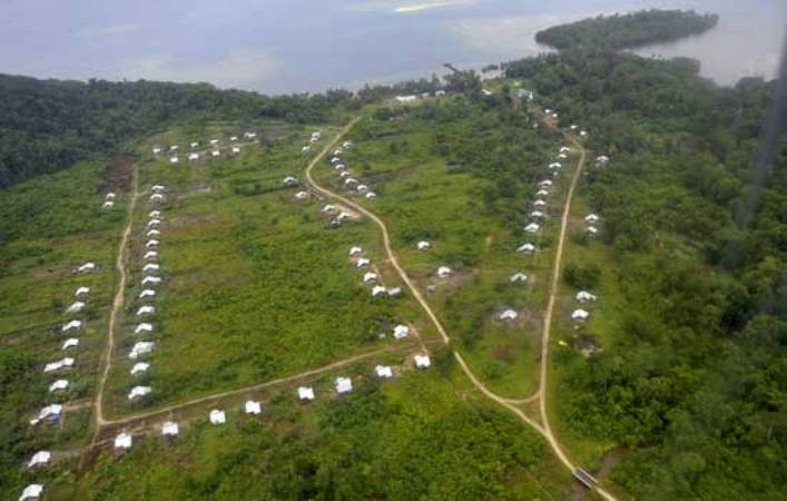 Foto udara sebuah kawasan transmigrasi (dok. kalbarprov.go.id)