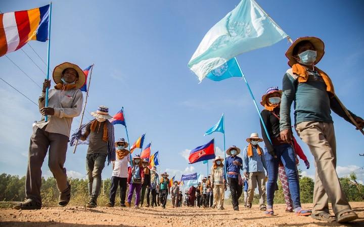 Masyarakat adat Kamboja merayakan hari Hak Asasi Manusia Sedunia (dok. oxfam)
