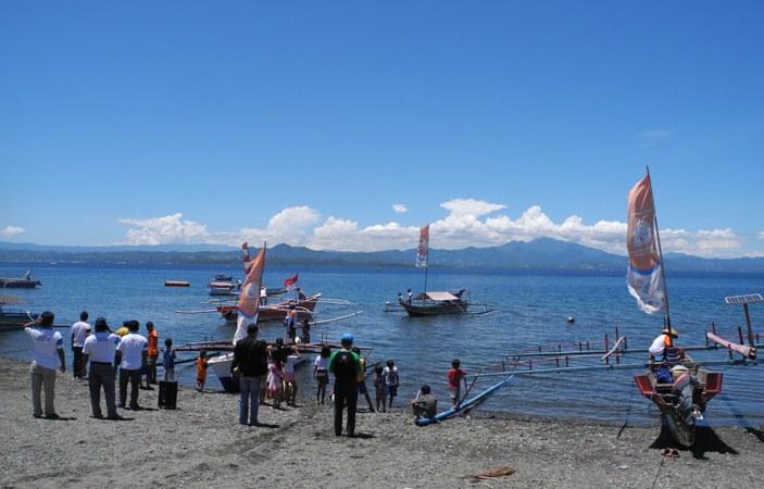 Promosi program Pengelolaan Akses Area Perikanan (PAAP) di Minahasa (dok. villagerspost.com/eko handoyo)