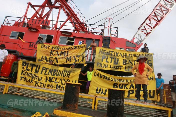 Nelayan kembali beraksi menolak PLTU Batang (dok. greenpeace)