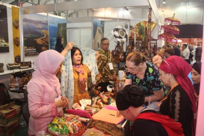 Stand pameran produk halal Indonesia di Moskow (dok. kementerian luar negeri)