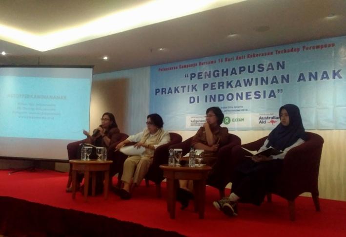 Diskusi penghapusan perkawinan anak yang diselenggarakan Kalyanamitra dan Oxfam di indonesia (dok. villagerspost.com)