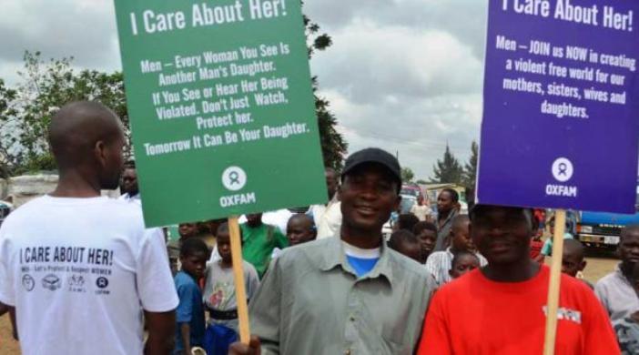 Lelaki ikut mendukung gerakan menghentikan kekerasan terhadap perempuan (dok. oxfam)
