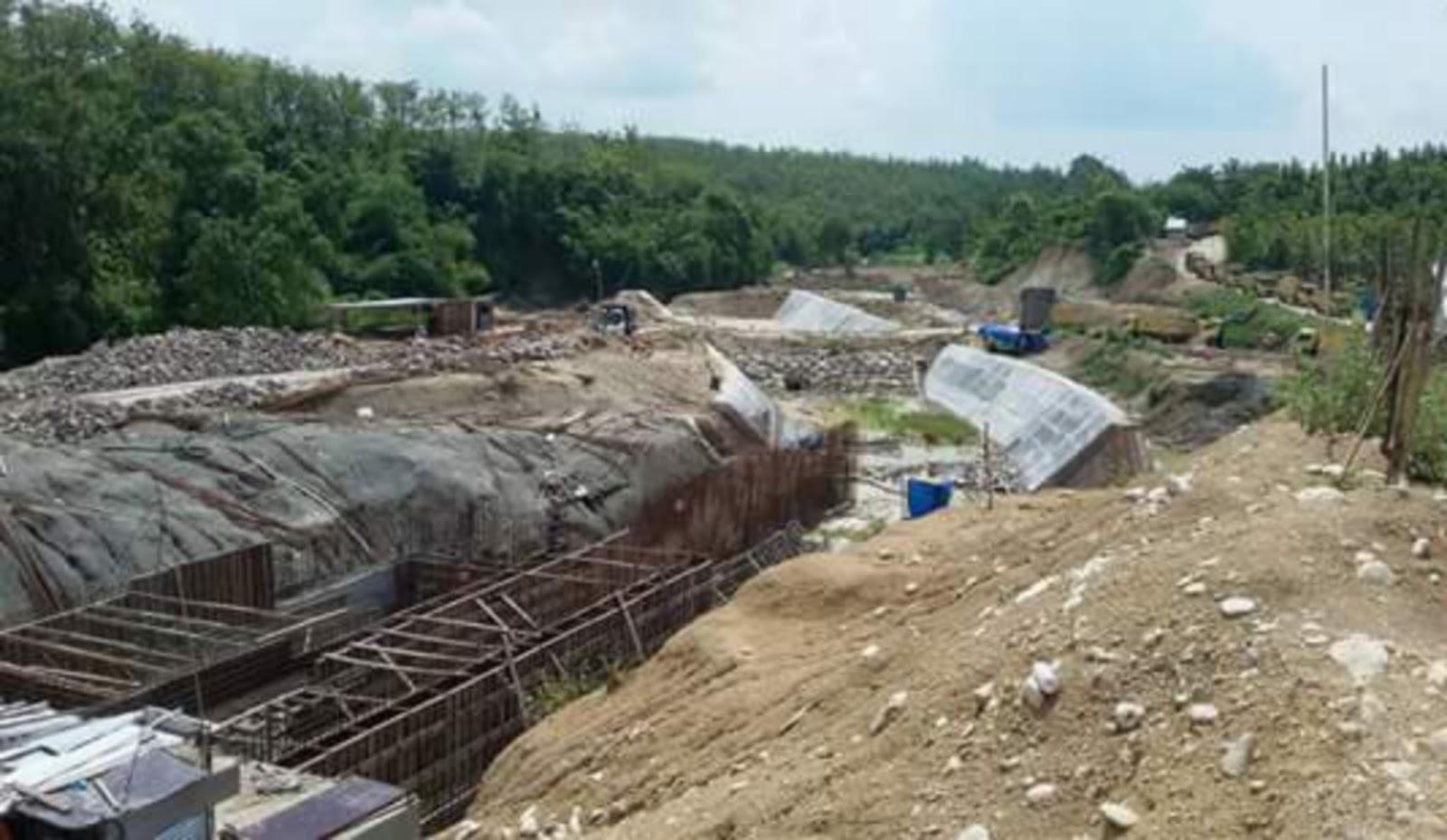 Pembangunan waduk Gongseng di Bojonegoro (dok. pemerintah kabupaten bojonegoro)