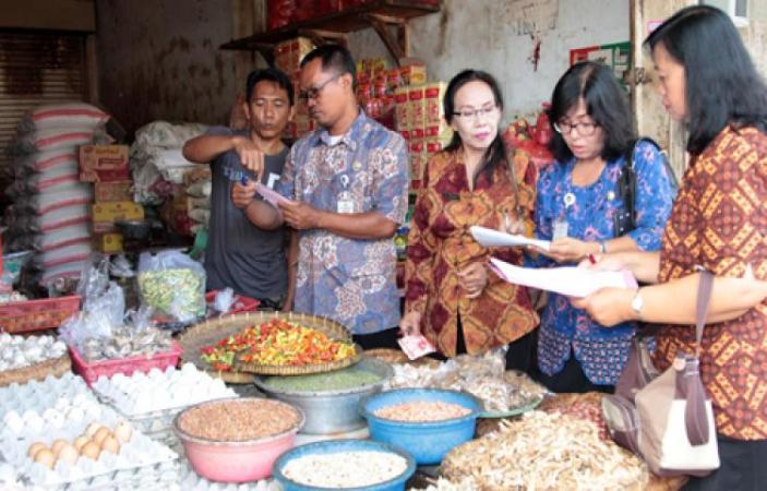 Pemantauan harga kebutuhan pokok di daerah (dok. kabupaten gianyar)