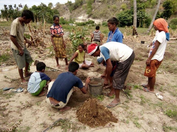 Belajar pemupukan dasar dengan pupuk organik (dok. villagerspost.com/rahmat adinata)