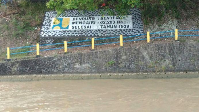 Bendungan Banteng, memasok air ke areal persawahan di Dusun Takala Barat (dok. villagerspost.com/suharjo)