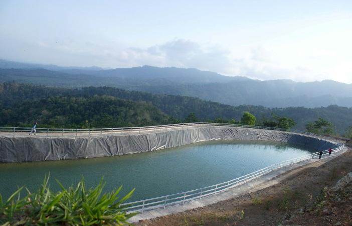 Pembangunan embung di kabupaten Kulonprogo, DIY (dok. kemendes pdtt)